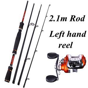 4 Sections Fishing Rod Spinning 2.1M 2.4M 2.7M Carbon Spinning Rod And-Fishing Rod & Reel Combos-Bargain Bait Box-Red-Bargain Bait Box
