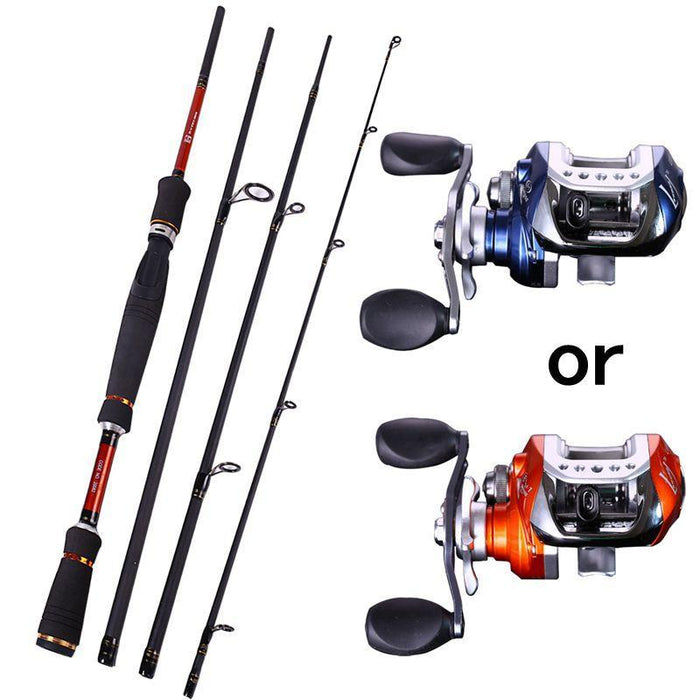 4 Sections Fishing Rod Spinning 2.1M 2.4M 2.7M Carbon Spinning Rod And-Fishing Rod & Reel Combos-Bargain Bait Box-White-Bargain Bait Box