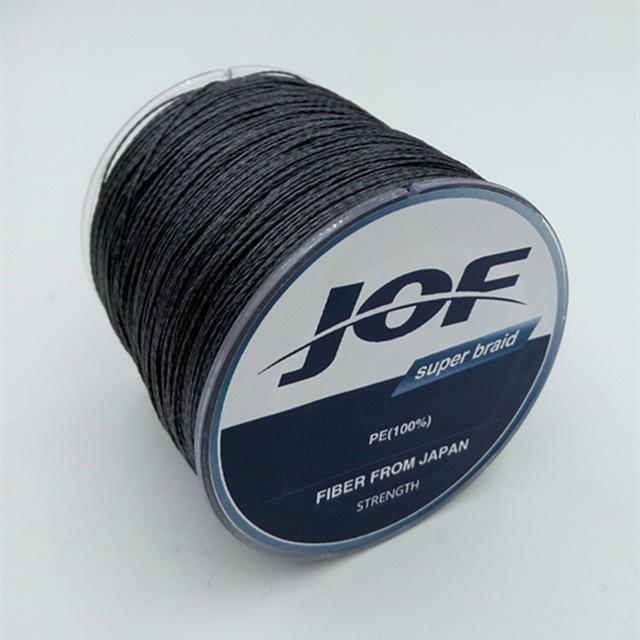 4 Strands 500M Super Strong Japan Multifilament 100% Pe Braided Fishing Line 8-Mr. Fish Store-Black-0.6-Bargain Bait Box