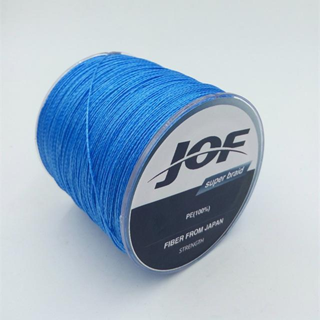 4 Strands 500M Super Strong Japan Multifilament 100% Pe Braided Fishing Line 8-Mr. Fish Store-Blue-0.6-Bargain Bait Box
