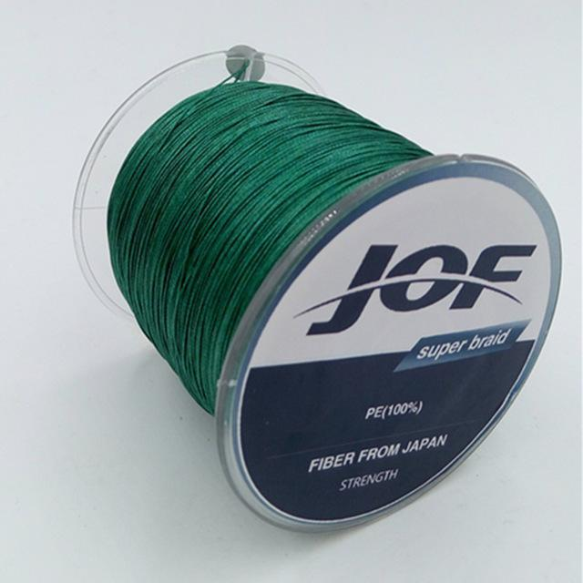 4 Strands 500M Super Strong Japan Multifilament 100% Pe Braided Fishing Line 8-Mr. Fish Store-Dark Green-0.6-Bargain Bait Box