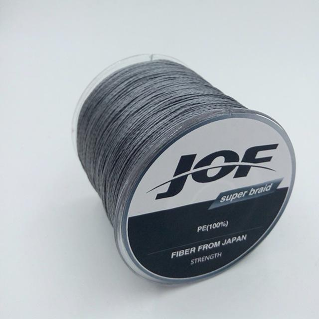 4 Strands 500M Super Strong Japan Multifilament 100% Pe Braided Fishing Line 8-Mr. Fish Store-Gray-0.6-Bargain Bait Box