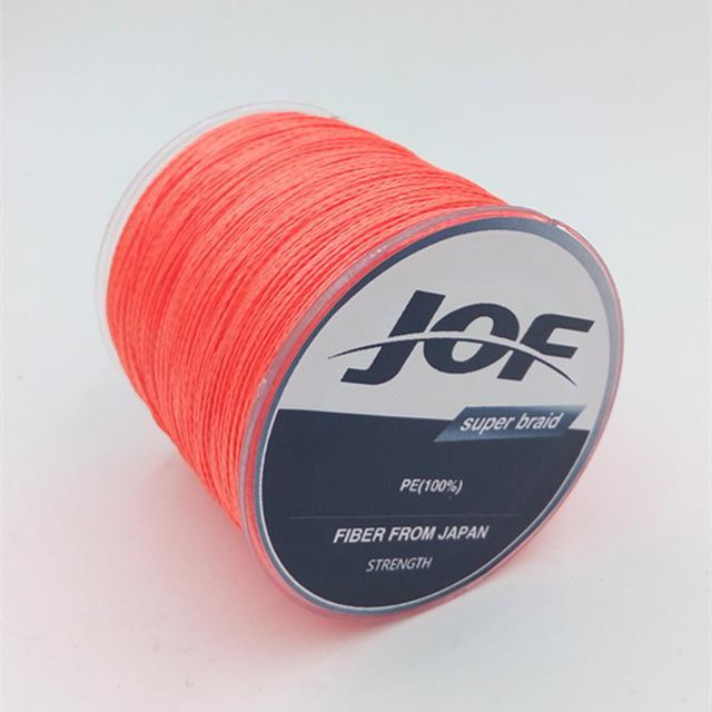 4 Strands 500M Super Strong Japan Multifilament 100% Pe Braided Fishing Line 8-Mr. Fish Store-Orange-0.6-Bargain Bait Box