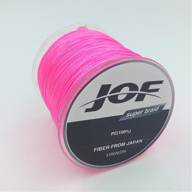 4 Strands 500M Super Strong Japan Multifilament 100% Pe Braided Fishing Line 8-Mr. Fish Store-Pink-0.6-Bargain Bait Box