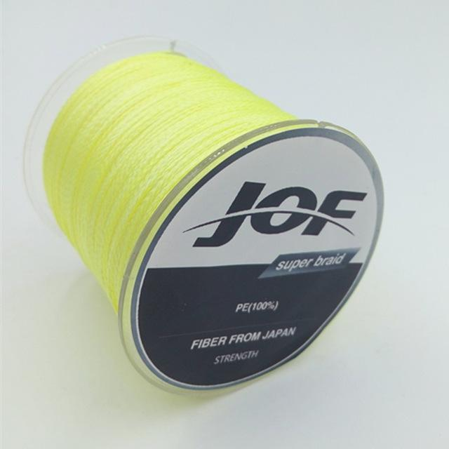 4 Strands 500M Super Strong Japan Multifilament 100% Pe Braided Fishing Line 8-Mr. Fish Store-Yellow-0.6-Bargain Bait Box