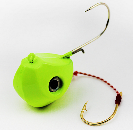 40G 60G 80G 100G Single Boat Lead Head Jig Lures Hand Spinner Hook-Roundhead & Specialty Jigs-Bargain Bait Box-60g yellow-Bargain Bait Box