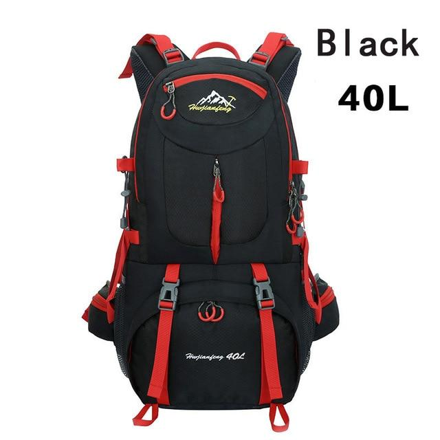 40L 50L 60L Outdoor Waterproof Bags Backpack Men Mountain Climbing Sports-Climbing Bags-ProfessionalSports Store-Black 40L-50 - 70L-Bargain Bait Box