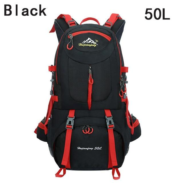 40L 50L 60L Outdoor Waterproof Bags Backpack Men Mountain Climbing Sports-Climbing Bags-ProfessionalSports Store-Black 50L-50 - 70L-Bargain Bait Box