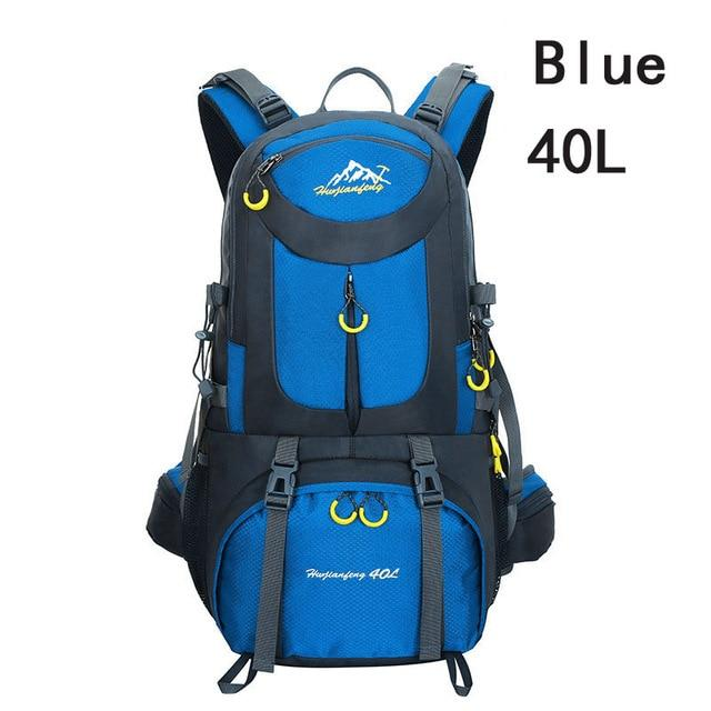 40L 50L 60L Outdoor Waterproof Bags Backpack Men Mountain Climbing Sports-Climbing Bags-ProfessionalSports Store-Blue 40L-50 - 70L-Bargain Bait Box