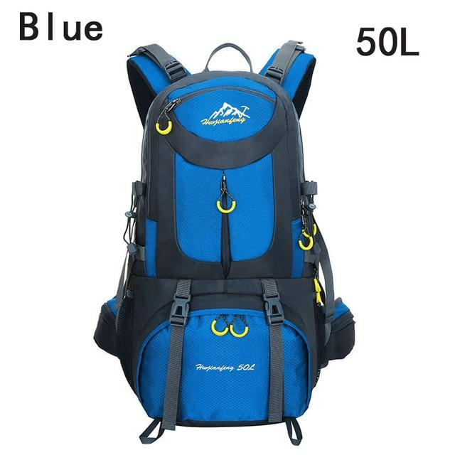 40L 50L 60L Outdoor Waterproof Bags Backpack Men Mountain Climbing Sports-Climbing Bags-ProfessionalSports Store-Blue 50L-50 - 70L-Bargain Bait Box