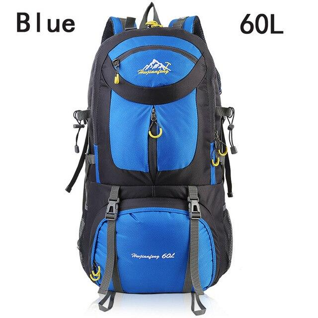 40L 50L 60L Outdoor Waterproof Bags Backpack Men Mountain Climbing Sports-Climbing Bags-ProfessionalSports Store-Blue 60L-50 - 70L-Bargain Bait Box