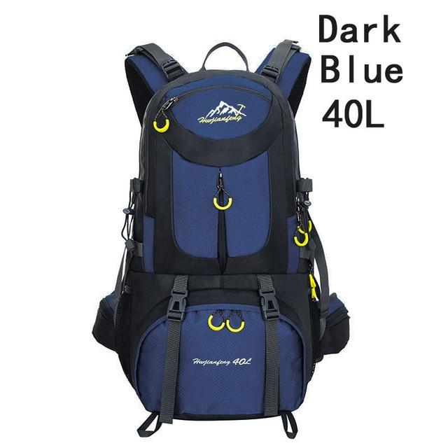 40L 50L 60L Outdoor Waterproof Bags Backpack Men Mountain Climbing Sports-Climbing Bags-ProfessionalSports Store-Dark Blue 40L-50 - 70L-Bargain Bait Box