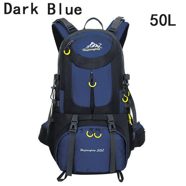 40L 50L 60L Outdoor Waterproof Bags Backpack Men Mountain Climbing Sports-Climbing Bags-ProfessionalSports Store-Dark Blue 50L-50 - 70L-Bargain Bait Box