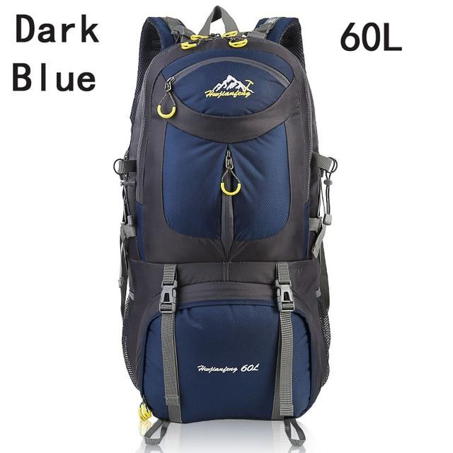 40L 50L 60L Outdoor Waterproof Bags Backpack Men Mountain Climbing Sports-Climbing Bags-ProfessionalSports Store-Dark Blue 60L-50 - 70L-Bargain Bait Box