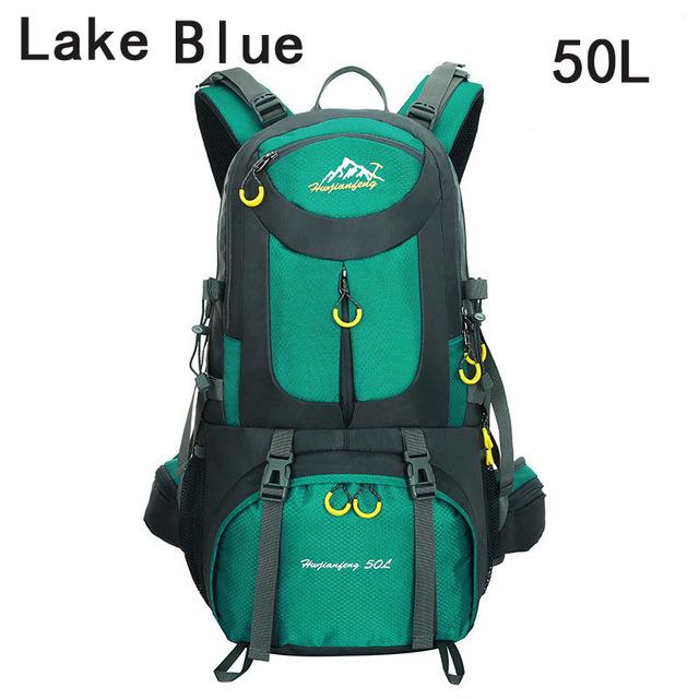 40L 50L 60L Outdoor Waterproof Bags Backpack Men Mountain Climbing Sports-Climbing Bags-ProfessionalSports Store-Lack Blue 50L-50 - 70L-Bargain Bait Box