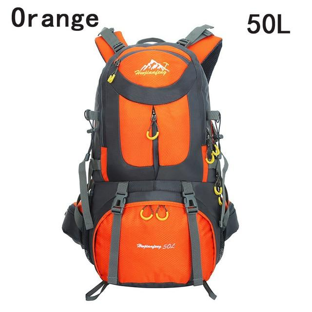40L 50L 60L Outdoor Waterproof Bags Backpack Men Mountain Climbing Sports-Climbing Bags-ProfessionalSports Store-Orange 50L-50 - 70L-Bargain Bait Box