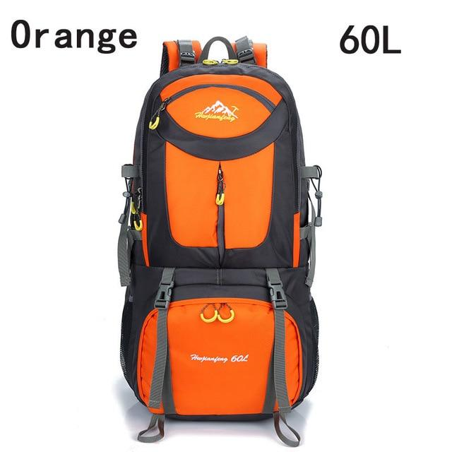 40L 50L 60L Outdoor Waterproof Bags Backpack Men Mountain Climbing Sports-Climbing Bags-ProfessionalSports Store-Orange 60L-50 - 70L-Bargain Bait Box