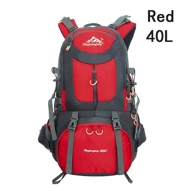 40L 50L 60L Outdoor Waterproof Bags Backpack Men Mountain Climbing Sports-Climbing Bags-ProfessionalSports Store-Red 40L-50 - 70L-Bargain Bait Box