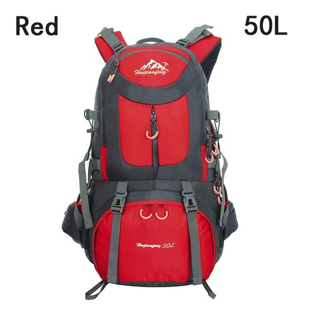 40L 50L 60L Outdoor Waterproof Bags Backpack Men Mountain Climbing Sports-Climbing Bags-ProfessionalSports Store-Red 50L-50 - 70L-Bargain Bait Box