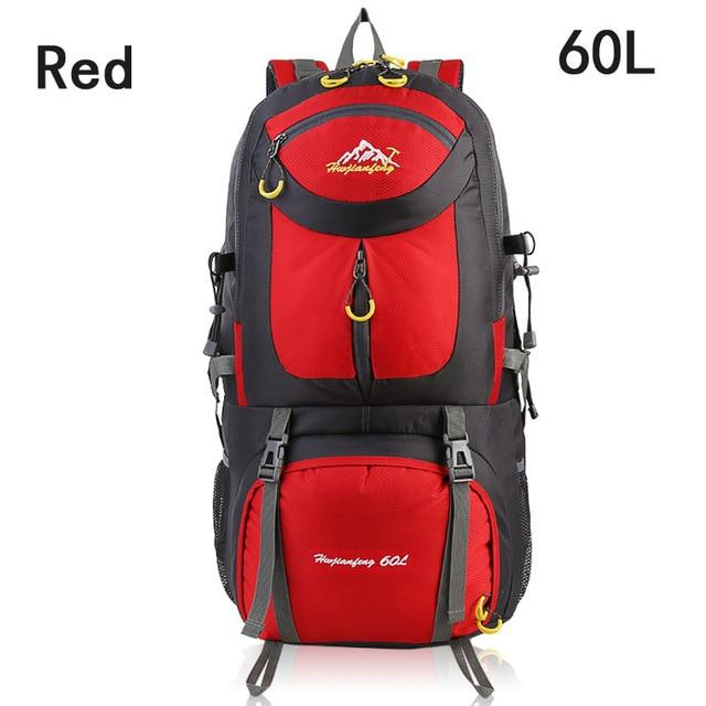 40L 50L 60L Outdoor Waterproof Bags Backpack Men Mountain Climbing Sports-Climbing Bags-ProfessionalSports Store-Red 60L-50 - 70L-Bargain Bait Box