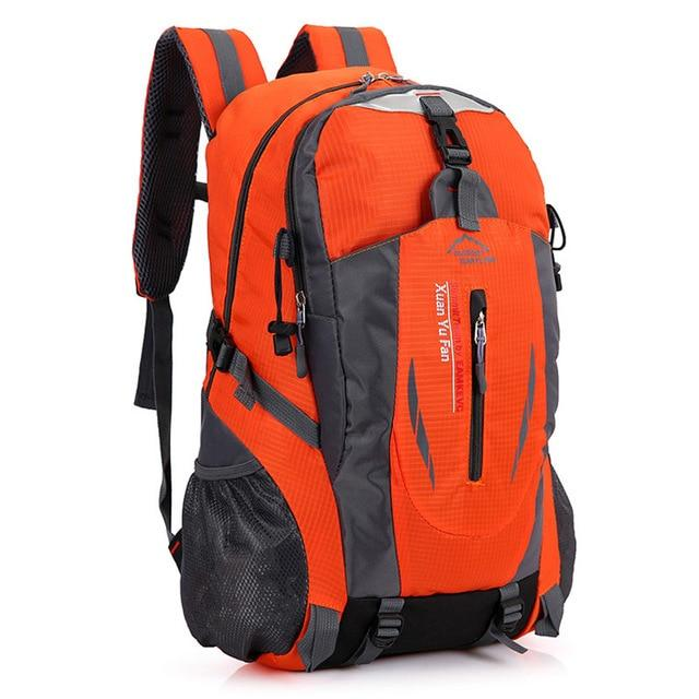 40L Waterproof Durable Outdoor Climbing Backpack Women&Men Hiking Athletic Sport-Climbing Bags-Outop Sports Shop Store-Orange-Bargain Bait Box