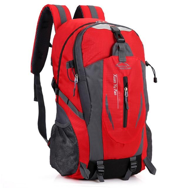 40L Waterproof Durable Outdoor Climbing Backpack Women&Men Hiking Athletic Sport-Climbing Bags-Outop Sports Shop Store-Red-Bargain Bait Box