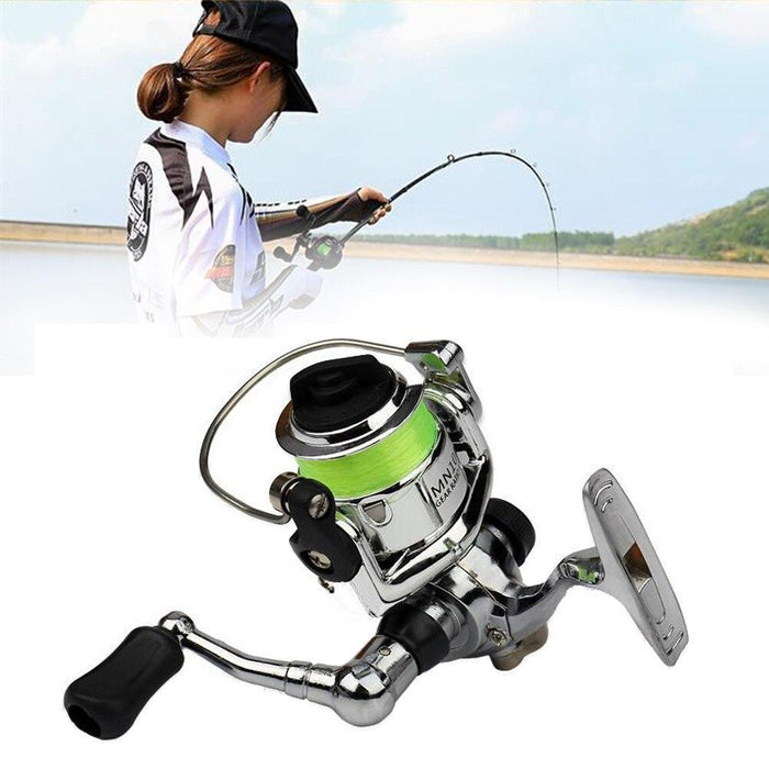 4.3:1 Professional Small Spinning Tool Foldable Accessory Durable Rod Fishing-Fishing Reels-Exercise Fitness Together Store-Bargain Bait Box