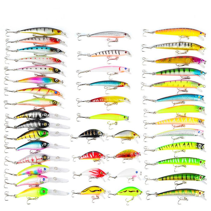 43Pcs/Lot 6 Sizes Minnow Set Baits Kit Fishing S Hard Fishing-Hard Bait Kits-Bargain Bait Box-Bargain Bait Box