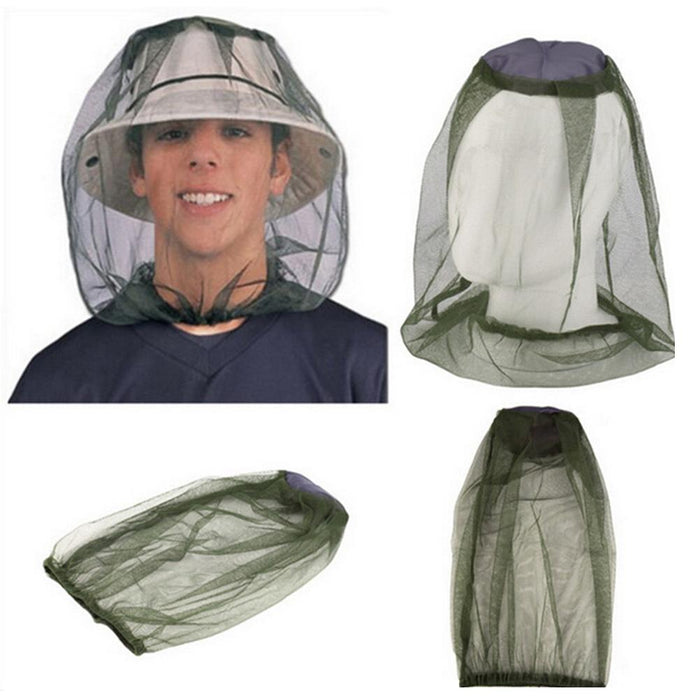 45*33Cm Insect Mosquito Net Mesh Face Fishing Hunting Camping Hat Protector Cap-Anti-Mosquito-Bargain Bait Box-Bargain Bait Box