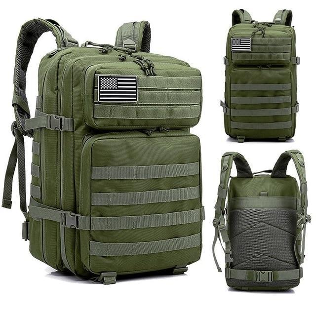 45L Man/Women Hiking Trekking Bag Military Tactical Backpack Army Waterproof-Climbing Bags-Outdoor Explorer Club Store-Army Green-China-Bargain Bait Box