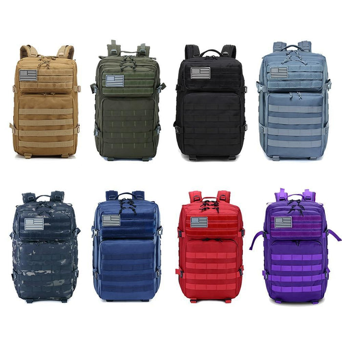45L Man/Women Hiking Trekking Bag Military Tactical Backpack Army Waterproof-Climbing Bags-Outdoor Explorer Club Store-Black-China-Bargain Bait Box
