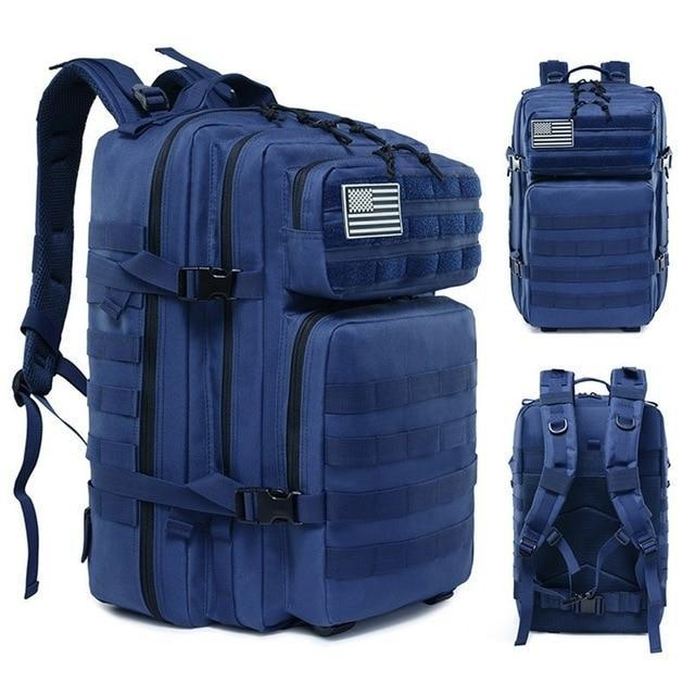45L Man/Women Hiking Trekking Bag Military Tactical Backpack Army Waterproof-Climbing Bags-Outdoor Explorer Club Store-Blue-China-Bargain Bait Box