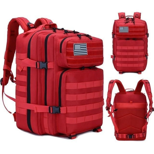 45L Man/Women Hiking Trekking Bag Military Tactical Backpack Army Waterproof-Climbing Bags-Outdoor Explorer Club Store-Red-China-Bargain Bait Box