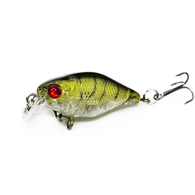 4Cm 4.2G Flash Swim Fishing Lure Artificial Hard Crank Bait Wobblers Japan-KoKossi Outdoor Sporting Store-3-Bargain Bait Box