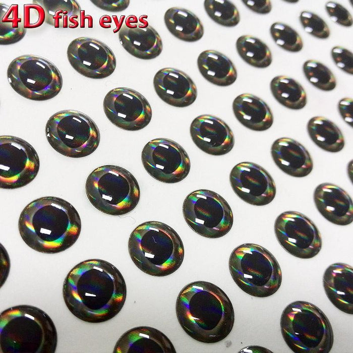 4D Fish Eyes Fly Fishing Lure Eye Realistic Holographic Fly Tying-Self-fishing from the music-3mm 4D 300pcs-Bargain Bait Box