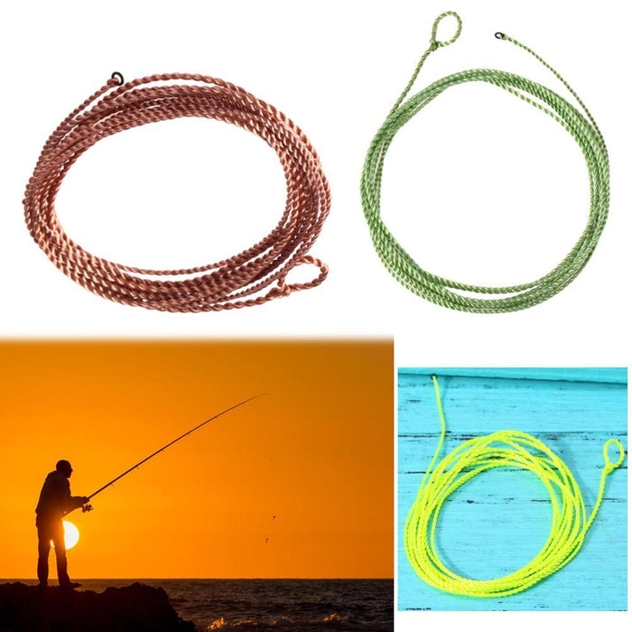 4Ft 17Lb Tenkara Fly Line Braided Fly Line Furled Leader Fly Fishing Line-Agreement-Yellow-Bargain Bait Box