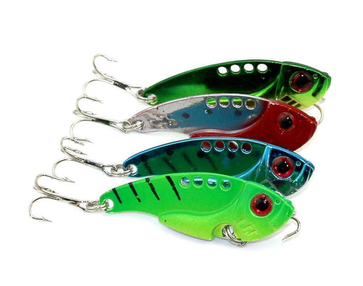 4Pcs 5.5Cm 11G Metal Trolling Spoon Swimbait Jig Hard Bait Metal Lures-Blade Baits-Bargain Bait Box-Bargain Bait Box