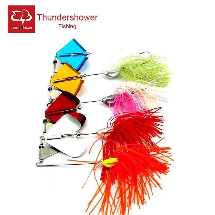 4Pcs Buzzbait Metal Spinner Bait Feather Sound Bass Bait Flying Lure Fishing-Buzzbaits-Bargain Bait Box-Bargain Bait Box