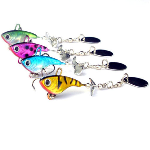 4Pcs*12G Sea Bass Lure Metal Vib Fishing Spinner Spoon Bait Metal Fishing Lead-Panfish Jigs-Bargain Bait Box-Bargain Bait Box