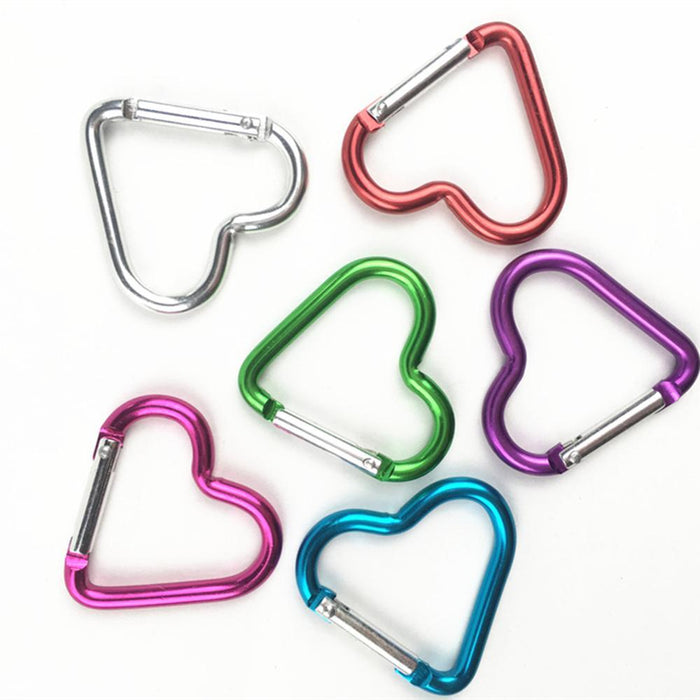 5 Pc/Lot Aluminum Alloy Heart Shaped Outdoor Survival Carabiner Hook Buckle-MoreCool Life Store-Bargain Bait Box