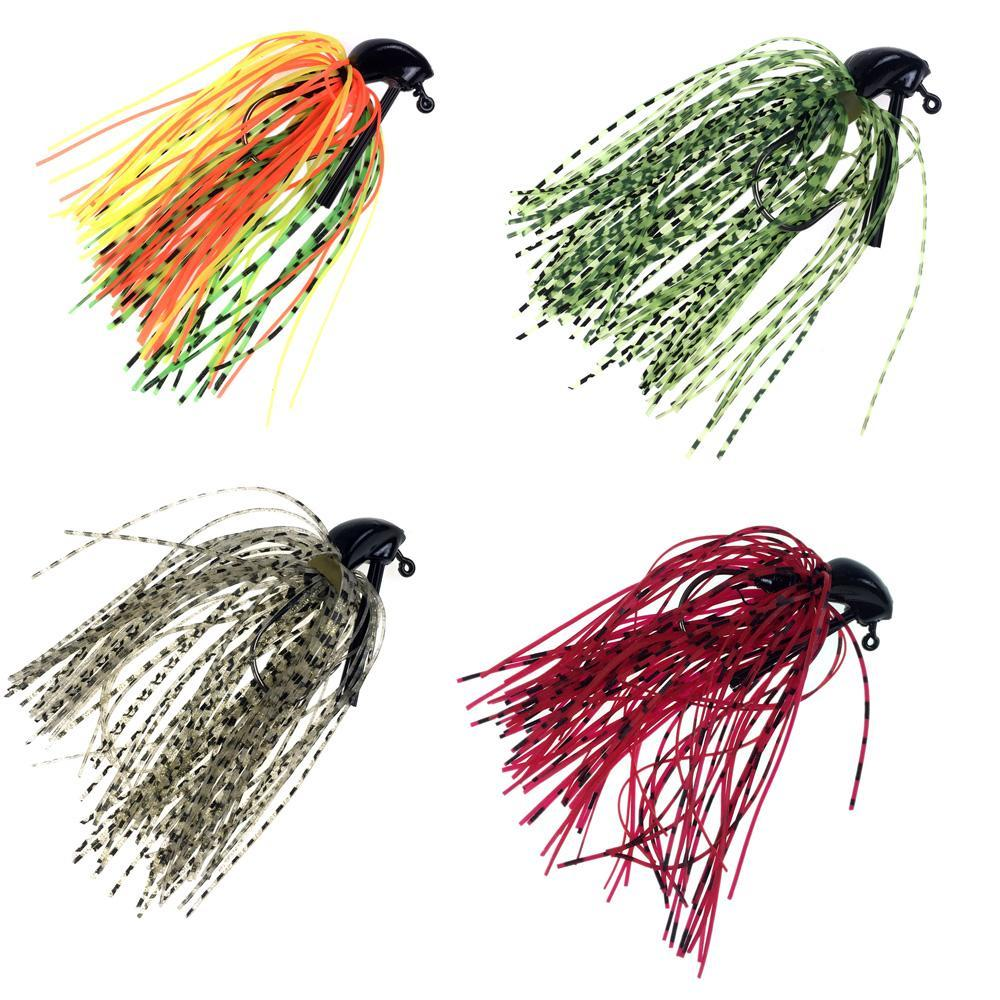 5 Pcs 7G 10G Bass Fishing Jigs Mix Color Rubber Skirt Lure Swim Buzz Metal-Bass Jigs-Bargain Bait Box-5Pcs 7g-Bargain Bait Box