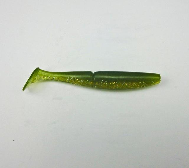5 Pcs Japan Fishing Soft Bait For Bass Plastic Lure Swimbait Soft Shad T Shape-BassLegend Official Store-Green-Bargain Bait Box