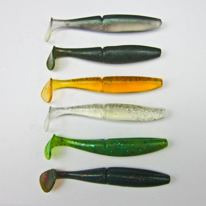 5 Pcs Japan Fishing Soft Bait For Bass Plastic Lure Swimbait Soft Shad T Shape-BassLegend Official Store-Yellow-Bargain Bait Box