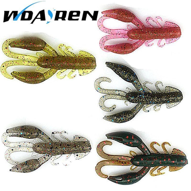 5 Pcs/Lot Soft Baits Fishing Soft Jig Swivel Rubber Worms Salt Smell Soft Shrimp-Craws-Bargain Bait Box-A-Bargain Bait Box