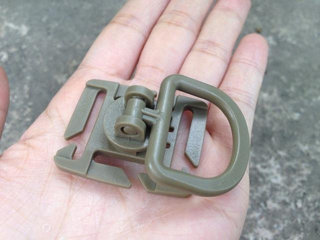 5 Pieces Multi-Function 360 Degree Rotating Block Itw Molle Buckle, Edc-Sportswear & Outdoor Tools Store-Khaki A-Bargain Bait Box