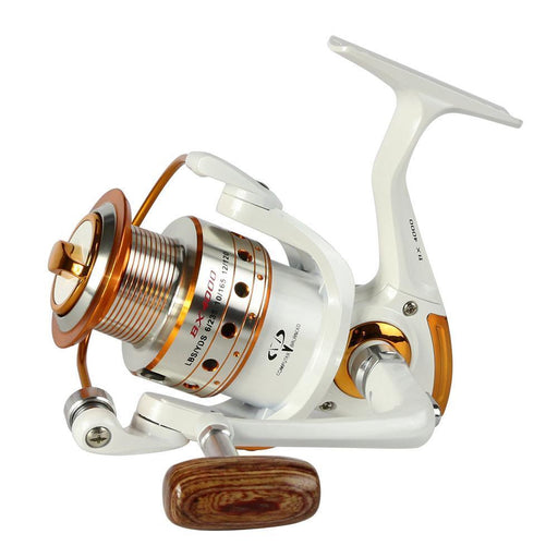 Spinning Fishing Reels 5.1:1 6BB LC2000 fishing-reels Wood folding arm