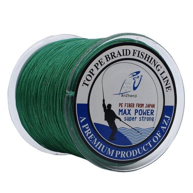 500M 8 Strands Fishing Brand Super Strong Japan Multifilament 8X Pe Braided-Thanksgiving Fishing Line-AZJ8P500MGreen-0.6-Bargain Bait Box