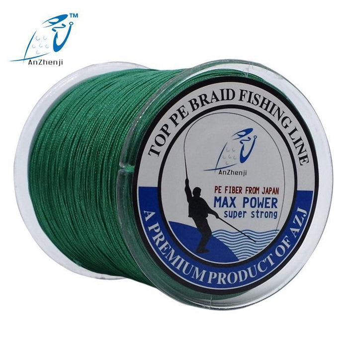 500M 8 Strands Fishing Brand Super Strong Japan Multifilament 8X Pe Braided-Thanksgiving Fishing Line-AZJ8P500MWhite-0.6-Bargain Bait Box