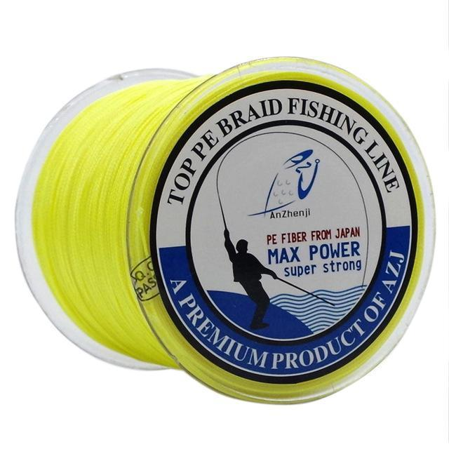 500M 8 Strands Fishing Brand Super Strong Japan Multifilament 8X Pe Braided-Thanksgiving Fishing Line-AZJ8P500MYellow-0.6-Bargain Bait Box