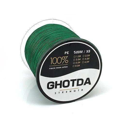 500M 8 Strands Fishing Line Multifilament Pe Line 8 Weaves Strong Braided Wire-HD Outdoor Equipment Store-Green-1.0-Bargain Bait Box